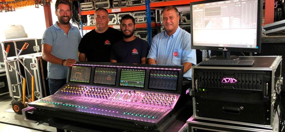 equipos de sonido profesional Adamson y Avid