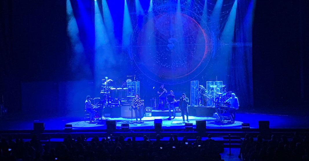 técnicos de sonido del concierto