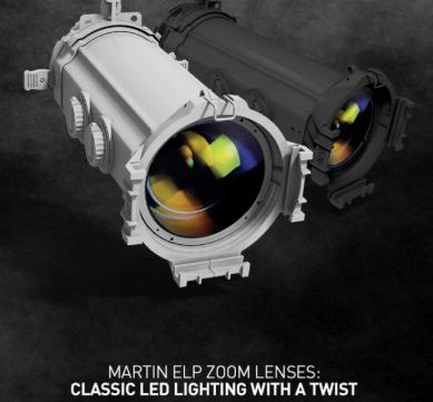Ópticas Zoom para recortes elipsoidales ELP Martin