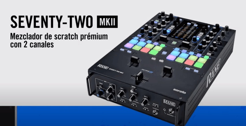 mezclador de Scratch Premium de 2 canales SEVENTY-TWO MKII
