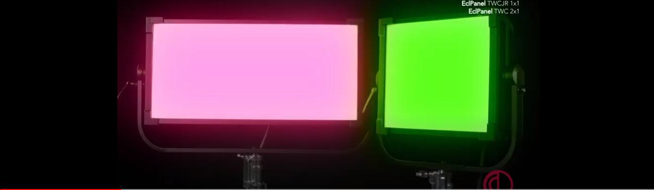 paneles LED Ecl TWC y Ecl TWCJR de Prolights